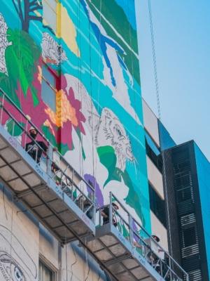 Street Art Tour realiza novo mural e tour virtual pela arte urbana de Floripa