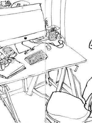 Ivan Jerônimo lança livro com desenhos feitos durante o isolamento social